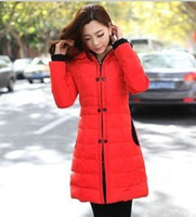 Wholesale New arrival women s hot sale fashion winter clothes warm Slim long sections padded down coat