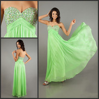 Chiffon Sleeveless Floor-Length Lime Green Evening Dresses A-line Detachable Straps Sweetheart Beaded Bodice Floor Length Bridesmaid Dresses