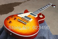 Wholesale Best Price Custom Shop Cherry Electric Guitar Left Hand Freeshipping