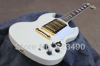 Solid Body 6 Strings Mahogany Best Price Custom Shop SG Custom Reissue Electric Guitar Classic White Freeshipping