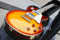 Wholesale Best Price Custom Shop Paul VOS Electric Guitar Sunrise Teaburst with Hard Case