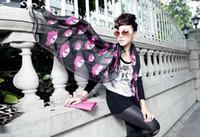 Wholesale Designer Silk Scarf Skull Rose Style cm New Arrivals B4