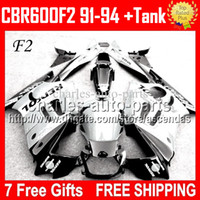 + Tank For HONDA CBR600F2 1992 1993 Repsol White black CBR600...