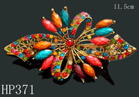 Wholesale hot sell rhinestone Hair Jewelry Butterfly vintage hair clips jewelry hair accessories Mixed colors HP371
