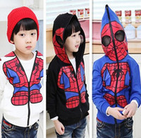 Wholesale High Quality Boys Jacket Children s Clothing Spiderman Zipper Hoodie Jacket Coat Boys Cardigan Coat CWZ0473