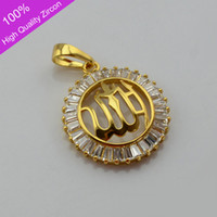 Middle Eastern muslim jewelry - 24k Gold Plated Allah Pendant Not Chain Islamic men jewelry High quality zircon jewelry women Muslim Item Islamic Arab Charm Gifts