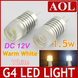 G4 1 LED bulb DC 12V 1.5W éclairage haute puissance lampe blanche et blanc chaud remplacer éclairage halogène Paysage Chandelier à partir de g4 blanc bulbe fournisseurs