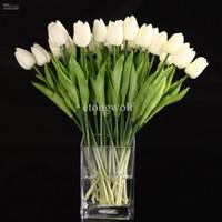 10pcs latex flowers - 10pcs Tulip Flower Latex Real Touch For Wedding Bouquet Decor Best Quality KC451