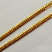 Wholesale 18k men gold chain fashion necklace gold plated chunky big chain for women unisex