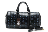 Wholesale MCM Duffel Bags MCM Black Travel Bag colours new styles mcm bags hot selling