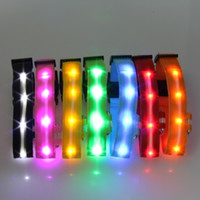 Wholesale 2 cm width screen with lights color led collar double faced