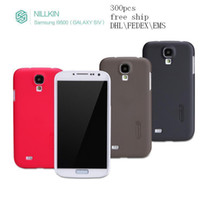 Plastic For Samsung  nillkin cover for Samsung i9500 GALAXY S4 case super frosted shield +screen protector+retail box ,300pcs DHL\fedex\EMS