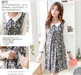 Wholesale New Arrival Autumn Fashion Floral Style Plus Size Maternity Dresses Nursing Dress Breast Feeding Dress