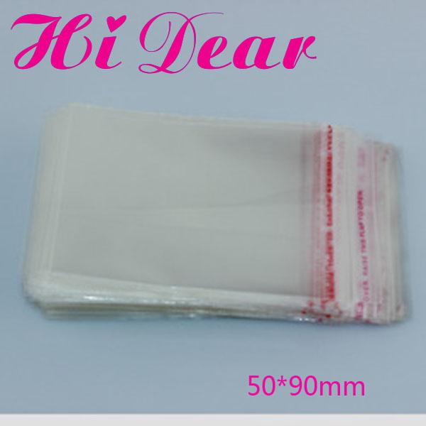 Plastic bags with adhesive strip on the flap