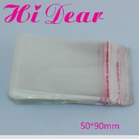 PE Packing bags self adhesive bags - 90 mm Flap Seal Self Adhesive Seal Poly Bags opp Packing Clear Plastic Bags
