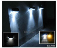 Wholesale 3XOutdoor Garden Wall Solar Powered LED Pathway Wall Landscape Fence Light Lamp