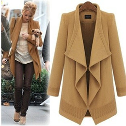 2015 Spring new arrive women's coats Straight type women's trench coats Women's Outwear woolen coat lace up women clothes brown