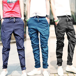 Wholesale K09 autumn male jeans trousers slim casual trousers