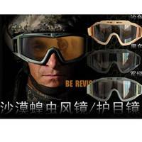 Wholesale US Revision Desert Locust Goggle Tactical Sunglasses Airsoft Eyewear Riding Eye Protection Hiking Cycling Sun Glasses