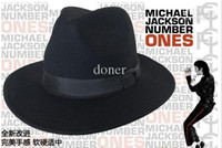 Printed wide brim hats - Michael Jackson concert dance this commemorative hat leisure jazz performance modelling gift Factory Price