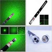 Wholesale 2IN1 mw Green Beam Laser Pointer Pen with Star Cap Pointing stars Hiking SOS Mounting Night Hunting teaching Xmas Gift Free Shpping