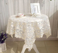 Wholesale Table cloth tablecloth dining table cloth multi purpose towel universal cover towel rustic crystal lace series