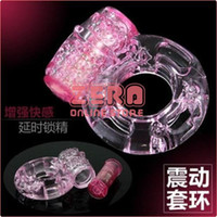 TPR   Free Shipping 20Pcs Lot Vibrating Penis Sleeve, Penis Ring, Cock Ring, Sex Toys, Sex Doll, Sex Product