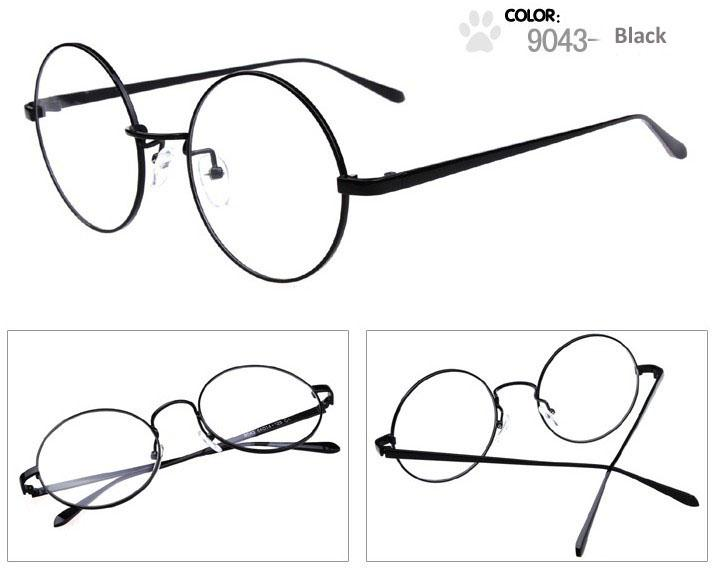 vintage round metal glasses frame professional optical frame can removable lenses for myopia or hyperopia
