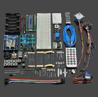 Wholesale UNO R3 Starter Kit Step Motor Servo LCD Breadboard LED resistor for Arduino E VBD14V2