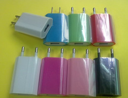 1A EU wall charger for iphone5 4S 4 samsung universal wall charger four colors high quality 200pcs lot in stock !