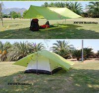 Wholesale free ship Ultralight portable water proof outdoor nylon shade roof camping picnic tent sleeping mat pad moistureproof mat tent pad M M