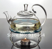 Wholesale Glass Teapot ml tea sets teapot Double wall glass coffe tea Cup Warmer small Candle good gift