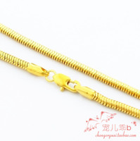 Cheap noble yellow gold rare style men's necklace