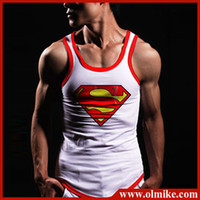 Men Polo Basic Tee Mens fashion superman Tank Tops for summer boys Sexy Sleeveless T Shirts Tops Tees, Male Printted Singlet Cotton Vest Asia S-XXL