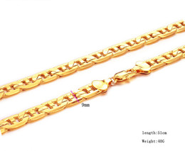 100% 24K SOLID GOLD DIAMOND CUT BAR CHAIN NECKLACE