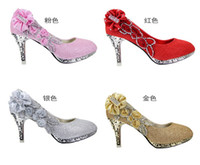 Wholesale Wedding Shoes Diamond Princess Wedding shoes high heeled CM shoes Korea high heels