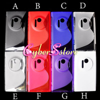 Wholesale Colorful S line Soft TPU Gel Case Cover For Nokia Lumia