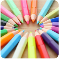 Wholesale New Korea Creative novelty Stationery Color Pencil Shape Gel Pen mm