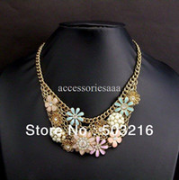 Women's Fashion Necklaces Free Shipping High Quality Fashion Costume Jewelry Sweet Crystal Necklace Valentine's Gift