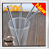 Wholesale Durable Stainless Steel Drinking Straw Straws Metal for Bar Family kitchen two type of straight and excurved