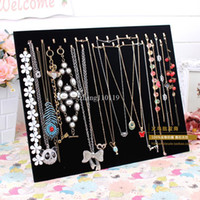Wholesale Double hook black velvet necklace plate bracelet pendant necklace display rack jewelry holder accessories props