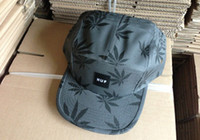 Wholesale HUF SUMMER COLLECTION PLANTLIFE BOX LOGO CHARCOAL Fashion Street Snapbacks Caps Hats for Street HipHop amp RAP Dancer pc sample