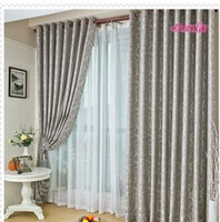 Wholesale Fashion Window Kitchen Bedroom Curtain Polyester Blackout Sheer Finished Curtain Ready Made Pleated Curtain Eyelet Hooks Style Panels