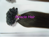 "Indian Hair Brown Straight Keratin Flat Tip Pre bond Human Hair Extensions 100% Indian Remy Hair 20"" 4# chocolate brown colour 1g s 100g pack AAA Grade Freeshipping"