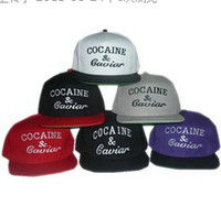 Wholesale NEW Style Adjustable Hot Selling Cocaine amp Caviar Snapbacks Nice Colors Snapbacks Strap Back Hats Caps Snap back Hat Cap High Quality
