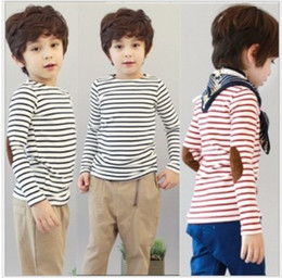 Wholesale children boy classic stripes Long sleeved t shirt dandys