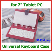 Wholesale Universal USB Keyboard Case Cover with Magic Girl for inch Android Tablet PC Ainol Novo Venus Onda V711 Cube U25GT AMPE A78 Sanei N78