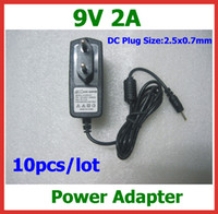 Wholesale 10pcs High Quality V A DC x0 mm Power Charger AC Adapter for Tablet PC Aoson M11 M19 M12 Cube U10GT U10GT2
