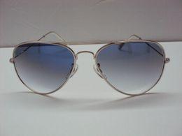 Hot selling Mens Womens Designer Gradient Sunglasses Silver frame gradient lenses 58mm glass lenses Free shipping