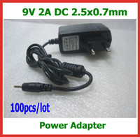 Wholesale 100pcs V A mm Power Adapter Charger for Tablet PC Aoson M11 M19 M12 Cube U10GT U10GT2 Yuandao N80 Chuwi V3 SmartQ T19 T30 Power Supply